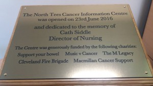 Macmillan Plaque June 2016